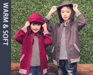 兒童棉質休閒風連帽外套,限時5.0折,今日結帳再享加碼折扣