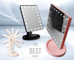 升級旋轉觸控LED化妝鏡,限時2.5折,今日結帳再享加碼折扣