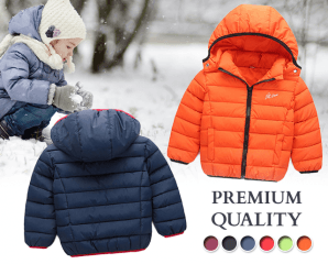 兒童保暖防風雨連帽外套,限時6.3折,今日結帳再享加碼折扣