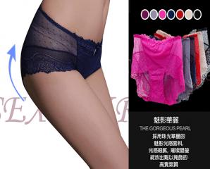 性感透膚高腰蕾絲內褲,限時4.0折,今日結帳再享加碼折扣
