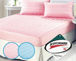 防潑水舖棉床包式保潔墊,限時2.1折,今日結帳再享加碼折扣
