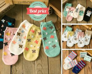 韓版可愛造型棉柔短襪,限時1.1折,今日結帳再享加碼折扣