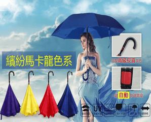 高質感可站立自動反向傘,限時1.6折,今日結帳再享加碼折扣