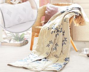 透氣舒適絲滑蠶絲枕被組,限時5.0折,今日結帳再享加碼折扣