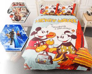 迪士尼床包被套四件組,限時4.5折,今日結帳再享加碼折扣