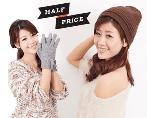 台灣製針織毛線帽/手套,限時3.5折,今日結帳再享加碼折扣