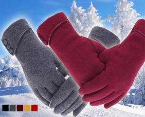 防風保暖絨毛觸控手套,限時2.6折,今日結帳再享加碼折扣
