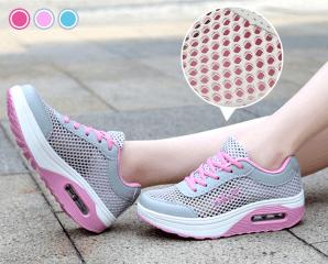 透氣網布氣墊增高健走鞋,限時4.8折,今日結帳再享加碼折扣