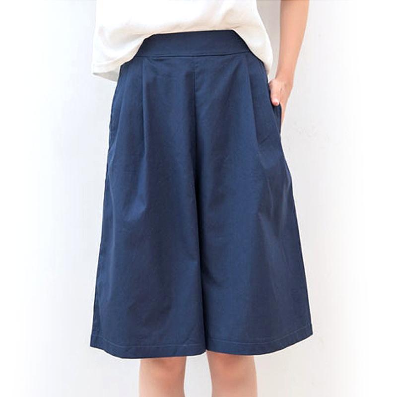 棉麻寬鬆馬卡龍五分褲裙,今日結帳再打85折
