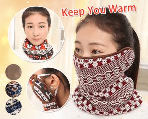 新款防風保暖圍巾耳口罩,限時1.7折,今日結帳再享加碼折扣