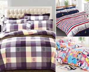 精緻全鋪棉兩用被床包組,限時4.6折,今日結帳再享加碼折扣