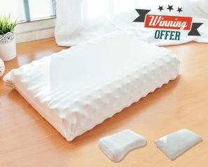 LooCa天然乳膠舒眠枕,限時1.5折,今日結帳再享加碼折扣