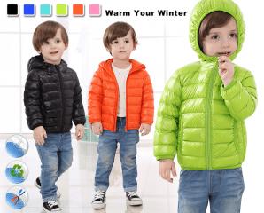 專櫃級兒童保暖羽絨外套,限時5.5折,今日結帳再享加碼折扣