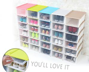 隱藏滑蓋可堆疊收納鞋盒,今日結帳再打88折