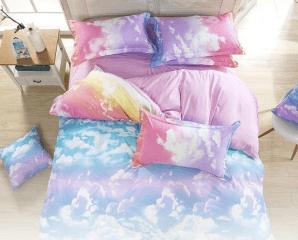 夢幻3D雲朵天空床單組,限時5.3折,今日結帳再享加碼折扣