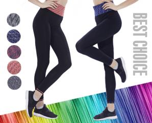 彈力透氣彩虹運動瑜珈褲,限時3.4折,今日結帳再享加碼折扣