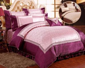 八件式緞面兩用被床罩組,限時6.6折,今日結帳再享加碼折扣