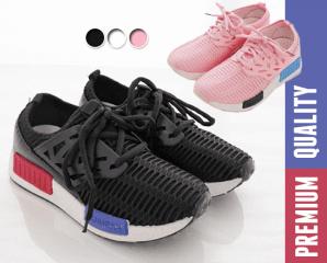 雙色流行元素網布運動鞋,限時4.3折,今日結帳再享加碼折扣
