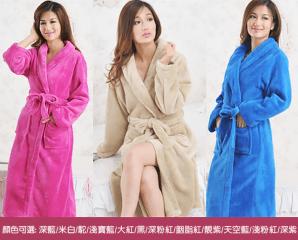 親膚舒適珊瑚絨浴袍睡袍,限時3.5折,今日結帳再享加碼折扣
