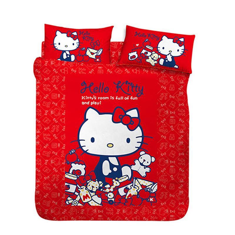 三麗鷗 Hello Kitty超值床包/涼被組,限時7.5折,請把握機會搶購!