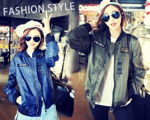 韓版學院風寬鬆飛行外套,限時8.0折,今日結帳再享加碼折扣