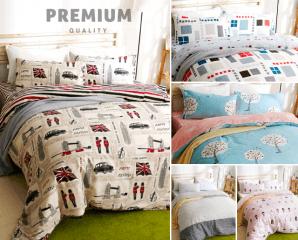精梳純棉兩用被床包組,限時7.6折,請把握機會搶購!