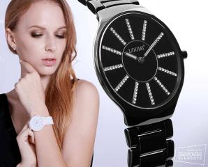 施華洛世奇日月陶瓷錶,限時1.8折,今日結帳再享加碼折扣