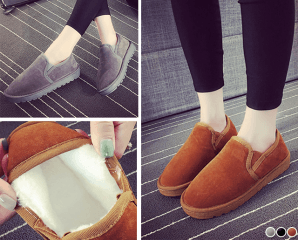 內鋪毛保暖顯瘦防滑雪靴,限時3.1折,今日結帳再享加碼折扣