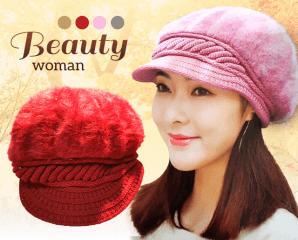 法式秋冬暖絨美織貝蕾帽,限時2.5折,今日結帳再享加碼折扣