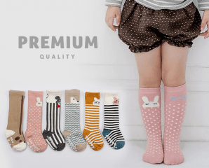 韓國童星款防滑中筒襪,限時5.4折,今日結帳再享加碼折扣
