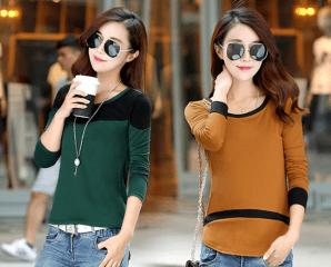 韓式時尚棉質修身打底衫,限時4.0折,今日結帳再享加碼折扣