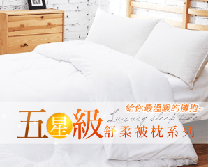 五星級舒眠枕頭/冬被,限時2.5折,今日結帳再享加碼折扣