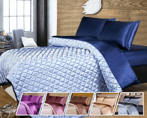 絲綢緞面涼被床包四件組