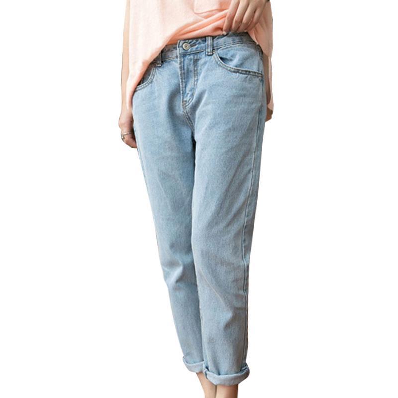 韓版百搭寬鬆顯瘦牛仔褲,今日結帳再打85折