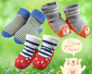美國棉萊卡止滑寶寶襪,限時3.5折,今日結帳再享加碼折扣