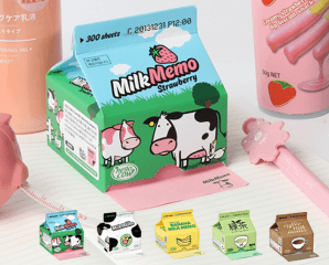 創意牛奶盒抽取便利貼,限時5.9折,今日結帳再享加碼折扣