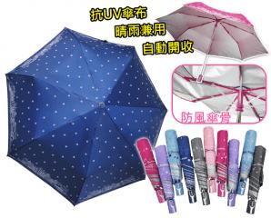 Q彈抗風抗UV自動晴雨傘,限時3.6折,今日結帳再享加碼折扣