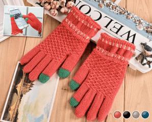 螢幕觸控編織保暖手套,限時3.6折,今日結帳再享加碼折扣
