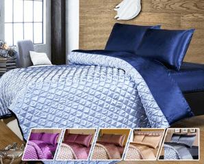 奢華絲綢緞面床包四件組,限時5.0折,今日結帳再享加碼折扣